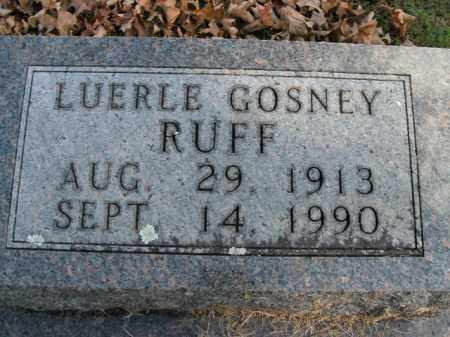 GOSNEY RUFF, LUERLE - Boone County, Arkansas | LUERLE GOSNEY RUFF - Arkansas Gravestone Photos