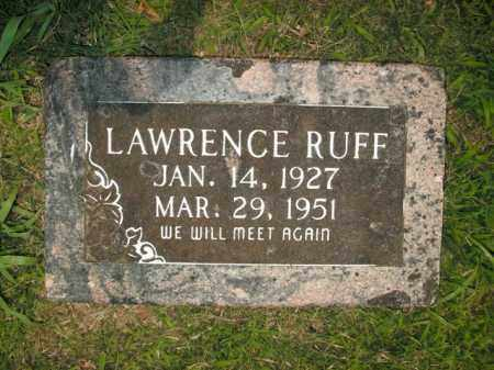 RUFF, LAWRENCE - Boone County, Arkansas | LAWRENCE RUFF - Arkansas Gravestone Photos