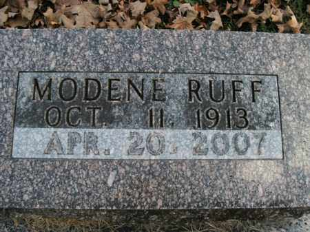 RUFF, MODENE - Boone County, Arkansas   MODENE RUFF - Arkansas Gravestone Photos