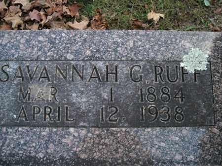 RUFF, SAVANNAH G. - Boone County, Arkansas | SAVANNAH G. RUFF - Arkansas Gravestone Photos