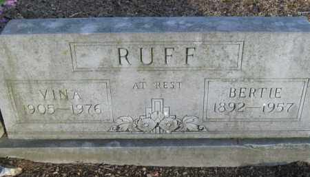 RUFF, BERTIE - Boone County, Arkansas | BERTIE RUFF - Arkansas Gravestone Photos