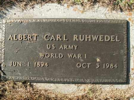 RUHWEDEL  (VETERAN WWI), ALBERT CARL - Boone County, Arkansas | ALBERT CARL RUHWEDEL  (VETERAN WWI) - Arkansas Gravestone Photos