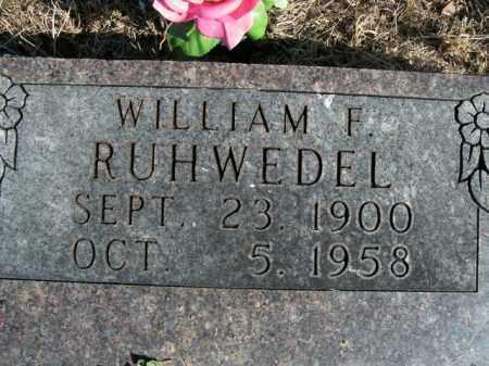 RUHWEDEL, WILLIAM F. - Boone County, Arkansas   WILLIAM F. RUHWEDEL - Arkansas Gravestone Photos