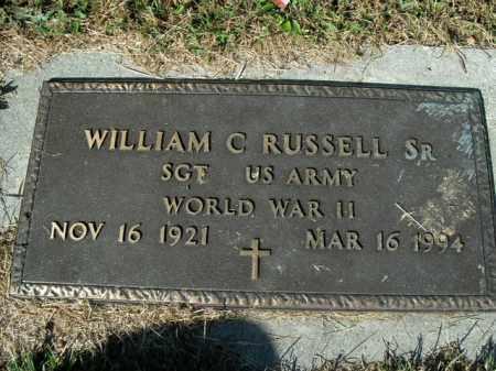 RUSSELL  (VETERAN WWII), WILLIAM C SR - Boone County, Arkansas | WILLIAM C SR RUSSELL  (VETERAN WWII) - Arkansas Gravestone Photos