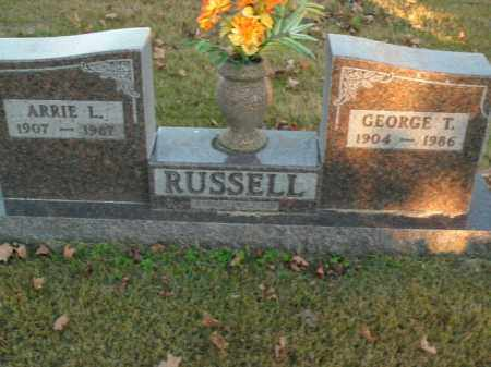 RUSSELL, GEORGE T. - Boone County, Arkansas | GEORGE T. RUSSELL - Arkansas Gravestone Photos