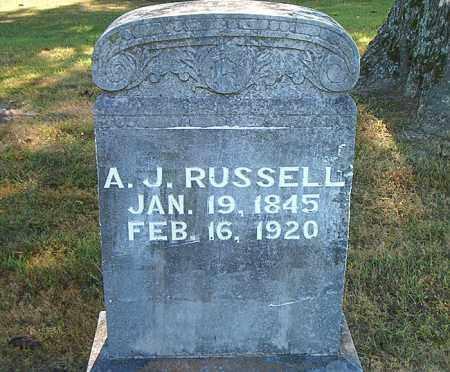 RUSSELL, A.  J. - Boone County, Arkansas | A.  J. RUSSELL - Arkansas Gravestone Photos