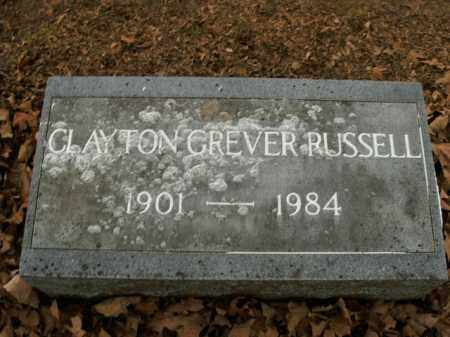 RUSSELL, CLAYTON GREVER - Boone County, Arkansas | CLAYTON GREVER RUSSELL - Arkansas Gravestone Photos