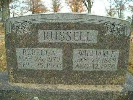 RUSSELL, WILLIAM F. - Boone County, Arkansas | WILLIAM F. RUSSELL - Arkansas Gravestone Photos