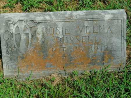 RUSSELL, ROSIE VELNA - Boone County, Arkansas   ROSIE VELNA RUSSELL - Arkansas Gravestone Photos