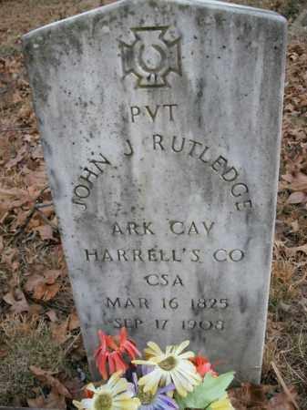 RUTLEDGE  (VETERAN CSA), JOHN J. - Boone County, Arkansas | JOHN J. RUTLEDGE  (VETERAN CSA) - Arkansas Gravestone Photos