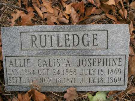 RUTLEDGE, JOSEPHINE - Boone County, Arkansas | JOSEPHINE RUTLEDGE - Arkansas Gravestone Photos