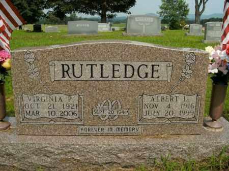 RUTLEDGE, ALBERT L. - Boone County, Arkansas   ALBERT L. RUTLEDGE - Arkansas Gravestone Photos