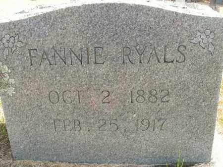 RYALS, FANNIE - Boone County, Arkansas | FANNIE RYALS - Arkansas Gravestone Photos