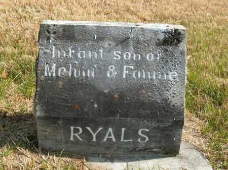 RYALS, INFANT SON - Boone County, Arkansas | INFANT SON RYALS - Arkansas Gravestone Photos