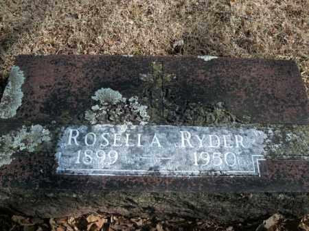 RYDER, ROSELLA - Boone County, Arkansas   ROSELLA RYDER - Arkansas Gravestone Photos