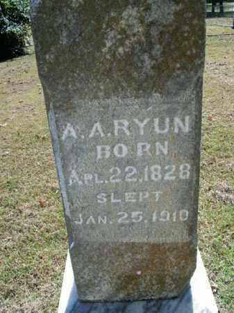 RYUN, A.A. - Boone County, Arkansas | A.A. RYUN - Arkansas Gravestone Photos