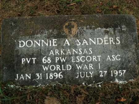 SANDERS  (VETERAN WWI), DONNIE A - Boone County, Arkansas | DONNIE A SANDERS  (VETERAN WWI) - Arkansas Gravestone Photos