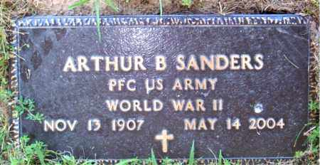 SANDERS  (VETERAN WWII), ARTHUR  B - Boone County, Arkansas   ARTHUR  B SANDERS  (VETERAN WWII) - Arkansas Gravestone Photos