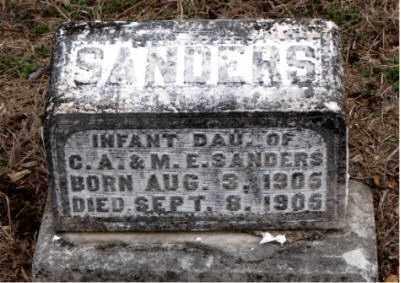 SANDERS, INFANT DAUGHTER - Boone County, Arkansas   INFANT DAUGHTER SANDERS - Arkansas Gravestone Photos