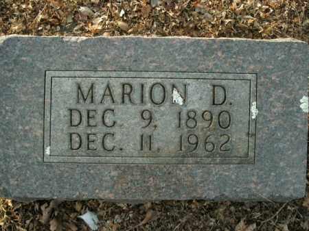 SANDERS, MARION D. - Boone County, Arkansas | MARION D. SANDERS - Arkansas Gravestone Photos