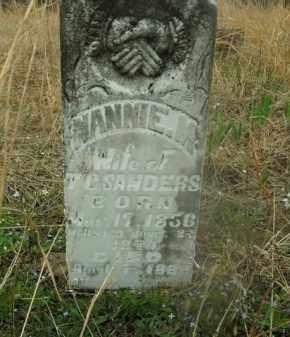 BASHAM SANDERS, NANNIE M. - Boone County, Arkansas | NANNIE M. BASHAM SANDERS - Arkansas Gravestone Photos