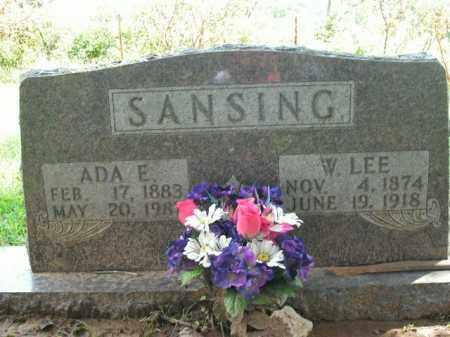 SANSING, ADA E. - Boone County, Arkansas | ADA E. SANSING - Arkansas Gravestone Photos