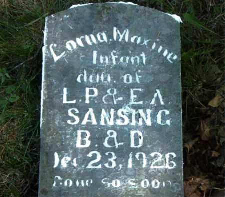 SANSING, LORNA MAXINE - Boone County, Arkansas   LORNA MAXINE SANSING - Arkansas Gravestone Photos