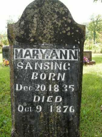 SANSING, MARY ANN - Boone County, Arkansas | MARY ANN SANSING - Arkansas Gravestone Photos