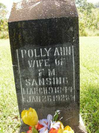SANSING, POLLY ANN - Boone County, Arkansas   POLLY ANN SANSING - Arkansas Gravestone Photos