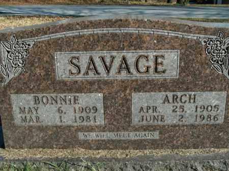 SAVAGE, ARCH - Boone County, Arkansas | ARCH SAVAGE - Arkansas Gravestone Photos