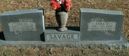 SAVAGE, LIN E. - Boone County, Arkansas | LIN E. SAVAGE - Arkansas Gravestone Photos
