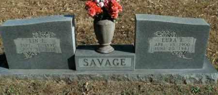 SAVAGE, LURA ELIZABETH - Boone County, Arkansas | LURA ELIZABETH SAVAGE - Arkansas Gravestone Photos