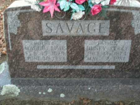 LAIR SAVAGE, MAGGIE - Boone County, Arkansas | MAGGIE LAIR SAVAGE - Arkansas Gravestone Photos