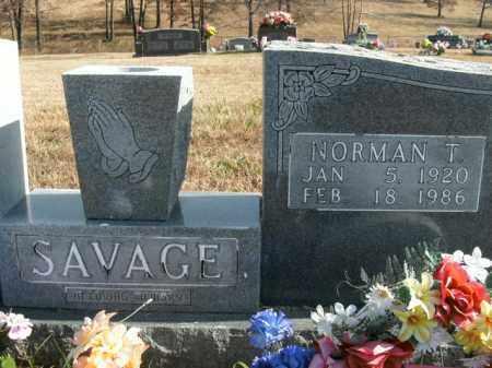 SAVAGE, NORMAN TRAVIS - Boone County, Arkansas | NORMAN TRAVIS SAVAGE - Arkansas Gravestone Photos