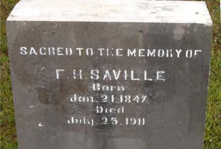 SAVILLE, F.  H. - Boone County, Arkansas | F.  H. SAVILLE - Arkansas Gravestone Photos