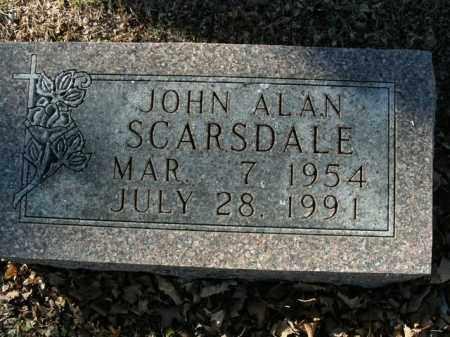 SCARSDALE, JOHN ALAN - Boone County, Arkansas | JOHN ALAN SCARSDALE - Arkansas Gravestone Photos