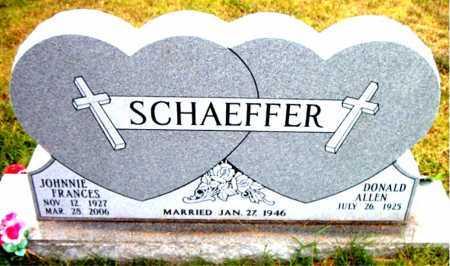 SCHAEFFER, JONNIE FRANCES - Boone County, Arkansas | JONNIE FRANCES SCHAEFFER - Arkansas Gravestone Photos