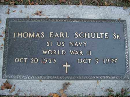SCHULTE, SR  (VETERAN WWII), THOMAS EARL - Boone County, Arkansas | THOMAS EARL SCHULTE, SR  (VETERAN WWII) - Arkansas Gravestone Photos