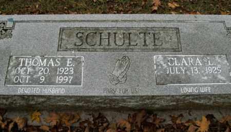 SCHULTE, THOMAS E. - Boone County, Arkansas | THOMAS E. SCHULTE - Arkansas Gravestone Photos