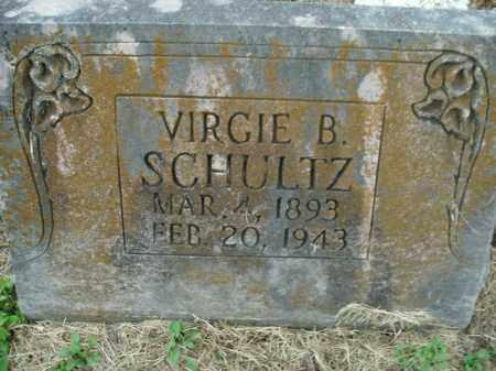 SCHULTZ, VIRGIE B. - Boone County, Arkansas | VIRGIE B. SCHULTZ - Arkansas Gravestone Photos