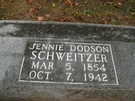 SCHWEITZER, JENNIE - Boone County, Arkansas   JENNIE SCHWEITZER - Arkansas Gravestone Photos