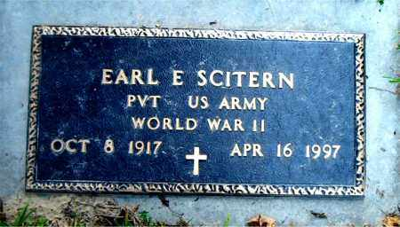 SCITERN  (VETERAN WWII), EARL  E - Boone County, Arkansas   EARL  E SCITERN  (VETERAN WWII) - Arkansas Gravestone Photos