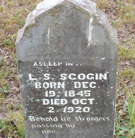 SCOGIN, L. S. - Boone County, Arkansas   L. S. SCOGIN - Arkansas Gravestone Photos