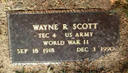 SCOTT  (VETERAN WWII), WAYNE  R - Boone County, Arkansas | WAYNE  R SCOTT  (VETERAN WWII) - Arkansas Gravestone Photos