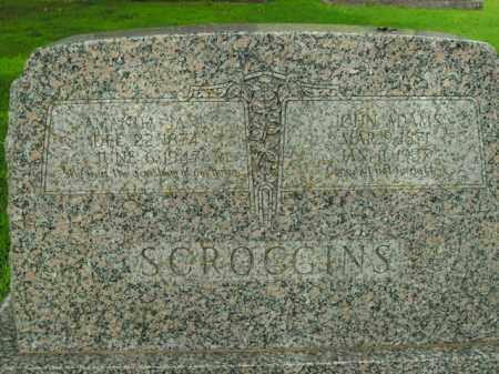 SCROGGINS, JOHN ADAMS - Boone County, Arkansas | JOHN ADAMS SCROGGINS - Arkansas Gravestone Photos