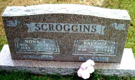 SCROGGINS, NONA F - Boone County, Arkansas | NONA F SCROGGINS - Arkansas Gravestone Photos