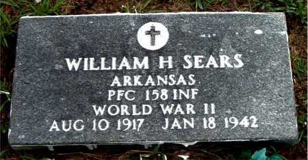 SEARS  (VETERAN WWII), WILLIAM H - Boone County, Arkansas   WILLIAM H SEARS  (VETERAN WWII) - Arkansas Gravestone Photos