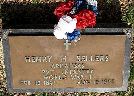 SELLERS  (VETERAN WWI), HENRY H - Boone County, Arkansas | HENRY H SELLERS  (VETERAN WWI) - Arkansas Gravestone Photos