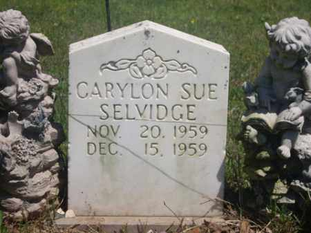 SELVIDGE, CARYLON SUE - Boone County, Arkansas | CARYLON SUE SELVIDGE - Arkansas Gravestone Photos