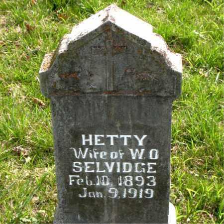 SELVIDGE, HETTY - Boone County, Arkansas | HETTY SELVIDGE - Arkansas Gravestone Photos